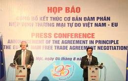Việt Nam - EU kết thúc đàm phán nội dung cơ bản Hiệp định thương mại tự do