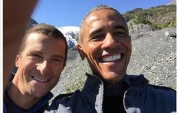 Tổng thống Obama cảnh báo việc biến đổi khí hậu với gậy selfie