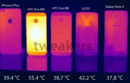 HTC One M9 tỏa nhiệt lớn khi sử dụng