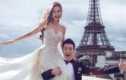 Huỳnh Hiểu Minh - Angelababy lần đầu khoe ảnh cưới tại Paris