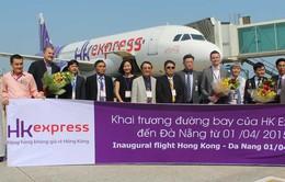 Đón hành khách chuyến bay thẳngHong Kong - Đà Nẵng của HK Express