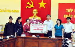 Phó Chủ tịch nước Nguyễn Thị Doan thăm hỏi người dân vùng lũ Quảng Ninh