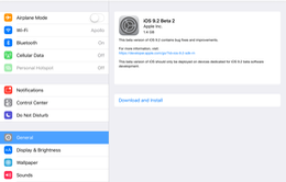 Apple phát hành iOS 9.2 beta 2, khắc phục lỗi Touch ID trên iOS 9.1