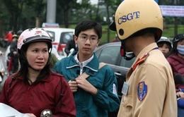 Cao điểm xử lý vi phạm về đội mũ bảo hiểm cho trẻ em