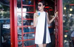 Quán quân Vietnam's Next Top Model 2014 trẻ trung với trang phục dạo phố