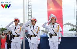 Hào hùng nghi lễ thượng cờ của 12.000 đoàn viên thanh niên Thủ đô