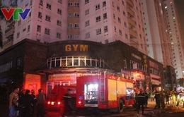 Cháy dữ dội tại chung cư Vimeco Trung Hòa, Hà Nội