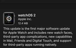Apple phát hành watchOS 2.0.1 cải thiện thời lượng pin trên Apple Watch