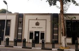 Đại sứ quán Anh tại Ai Cập phải đóng cửa vì lý do an ninh