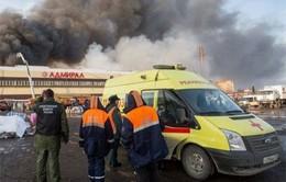 Nga khởi tố hình sự vụ cháy trung tâm thương mại ở Tatarstan