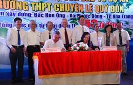 Khánh Hoà: Dự án xây mới Trường THPT chuyên Lê Quý Đôn được khởi động