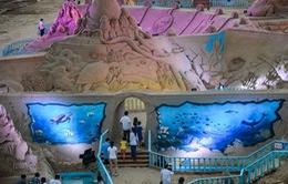 Độc đáo triển lãm nghệ thuật điêu khắc cát quốc tế ở Trung Quốc