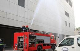 Đài THVN tổ chức thực tập phòng cháy chữa cháy tại tòa nhà Trung tâm THVN