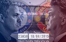 [INFOGRAPHIC] Chelsea - Man Utd: Ván bài lật ngửa (23h30, 18/4)