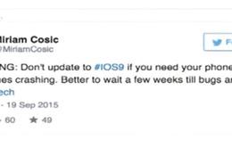 Nhiều iPhone và iPad bị lỗi khi cập nhật lên iOS 9