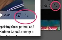 Mẹo mở rộng và thu nhỏ video trên iPad