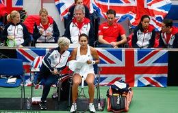 ĐT quần vợt nữ Anh quốc thẫn thờ sau thất bại ở Fed Cup