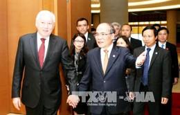 Chủ tịch nước Trương Tấn Sang tiếp Chủ tịch Hạ viện Kazakhstan