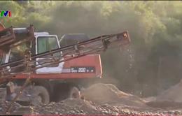 Lợi dụng dự án giết mổ gia súc, Công ty Hương Nguyên Thịnh khai thác cát trái phép