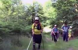 Người khiếm thị leo núi nhờ ứng dụng trên smartphone