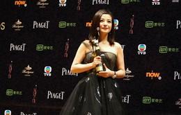 Triệu Vy rạng rỡ nhận giải Nữ diễn viên chính xuất sắc nhất