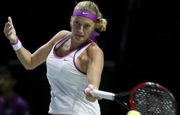 Kvitova vãn hồi cơ hội vào bán kết WTA Finals