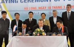 Quảng Ninh: Đóng tàu dầu khí hiện đại cho Damen Hà Lan