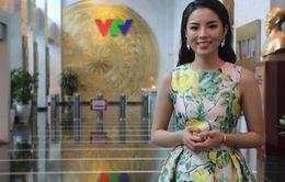 Hoa hậu Kỳ Duyên gửi lời chúc tới VTV