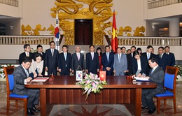 Việt Nam - Hàn Quốc ký hiệp định Thương mại tự do