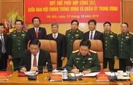 Quân ủy Trung ương phối hợp công tác với Ban Nội chính Trung ương