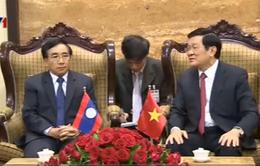 Chủ tịch nước hội kiến Chủ tịch Hội Hữu nghị Lào - Việt Nam