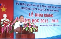 Đồng chí Lê Hồng Anh dự lễ khai giảng năm học mới ở Kiên Giang