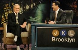 Jimmy Kimmel rơi nước mắt nói lời tạm biệt David Letterman