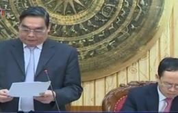 Đồng chí Lê Hồng Anh làm việc với lãnh đạo chủ chốt tỉnh Thanh Hóa