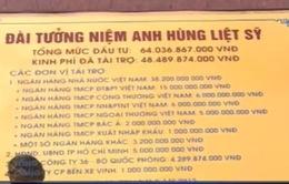 Gắn biển hoàn thành Tượng đài chiến thắng Truông Bồn
