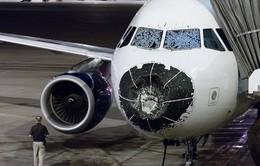 Mỹ: Mưa đá làm mũi máy bay bẹp dúm