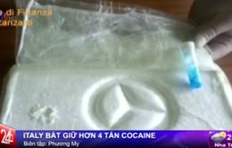 Italy bắt giữ hơn 4 tấn cocaine