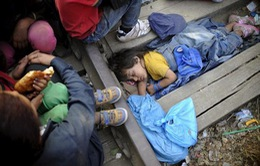 Cuộc sống khốn khổ của người tị nạn tại biên giới Macedonia