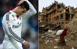 Cris Ronaldo khôngđóng góp 5 triệu bảng từ thiện tại Nepal