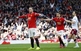 Rooney thừa nhận thi đấu sa sút khi trở lại đá tiền đạo cắm