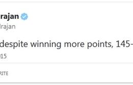 Mạng Twitter náo loạn sau khi Federer thua sốc tại Úc mở rộng