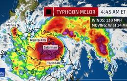 Philippines báo động đỏ vì bão Melor