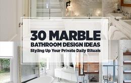 30 mẫu phòng tắm khiến bạn mê mẩn