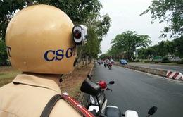 TP.HCM:Gắn camera trên mũ cảnh sát giao thông