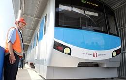 Vắng vẻ nơi đặtmẫu toa tàu Metro đầu tiên tại TP.HCM
