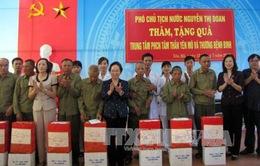 Phó Chủ tịch nước Nguyễn Thị Doan thăm, tặng quà cho người có công tỉnh Ninh Bình, Nam Định