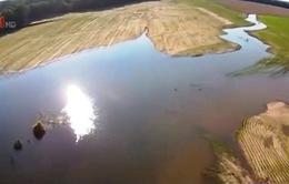 Ngập lụt nghiêm trọng trên những cánh đồng ở Mỹ