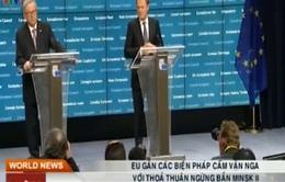 EU gắn các biện pháp cấm vận Nga với Thoả thuận Minsk II