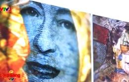 Bộ ảnh nghệ thuật Nữ hoàng Anh từ... tiền giấy