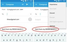 Motorola lộ thông tin DROID MAXX 2 qua hình ảnh giới thiệu Moto Email